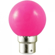 Ampoule sphérique B22 230V LED 0,8W rose