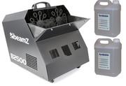 Machine à bulles BeamZ B2500 double roue très gros débit avec télécommande + 10l de liquide offert