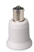Adaptateur douille Ba15s pour lampe E27