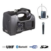 Sono portable USB Power Acoustics BE 1400 PT UHF avec micro main et serre tête