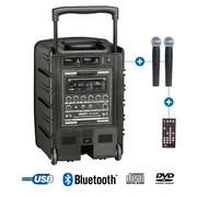 Sonorisation portable sur batterie Power acoustics BE 9208 ABS 2 micro