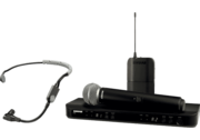 Micro HF double Shure BLX1288E-SM35-M17 avec micro main SM58 et micro serre tête SM35