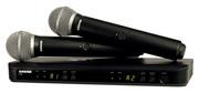 Micro Shure - BLX288E-PG58-M17 Complet double - Emetteur main PG58 - Bande M17