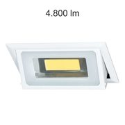 Downlight rectangulaire inclinable BONN 40W 4000K chassis encastrable blanc
