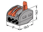 Borne de connexion de type WAGO 3 X 0.08 à 4mm cond souple ou rigide