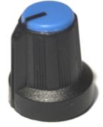 Bouton pour potentiomètre rotatif rond axe 6mm 15X16mm noir bleu
