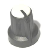 Bouton pour potentiomètre rotatif rond axe 6mm 15X16mm noir blanc