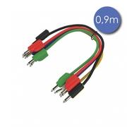 lot de 6 câbles de patch mini jack mono avec reprise arrière 90cm