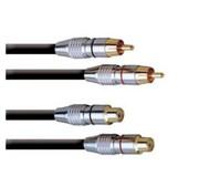 Cordon prolongateur pro 2 RCA Cinch Males vers 2 RCA Cinch femelles 6m