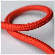 Cordon rouge gaine tissée 2X0.75 vendu au m