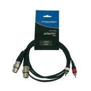 cable adaptateur 2 RCA Cinch males vers 2 XLR femelles 1m5