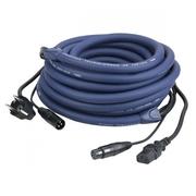 cable d'alimentation et dmx shuko M vers IEC femelle + XLR DMX mf 10m