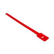 attache cable rouge 15cm X 1.25cm à scratch
