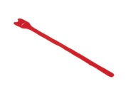 attache cable velcro rouge gros modèle 30cm X 2.5cm à scratch