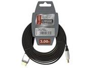 Cable plat HDMI 3m fiche mâle vers fiche mâle