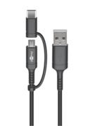 Cordon adaptateur charge et data USB vers USB-c et micro usb