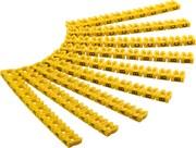 Jeu de 90 clips de repérage de câbles diamètre 4mm lettres de A à C