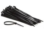 100 Colliers de serrage nylon 200mm noir
