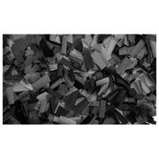 Confettis rectangulaires 55X17 noir Sac de 1Kg