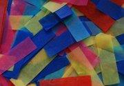 Confettis rectangles multicolores 50 X 16mm 1kg
