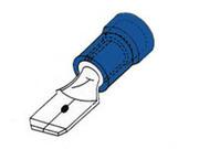 lot de 10 cosses isolées males plates 6.3mm pour câble 1.5mm à 2.5mm