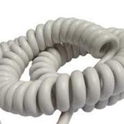 Cordon spiralé blanc  3x2.5 longueur 5m étiré et 1m26 au repos
