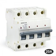 Disjoncteur tétrapolaire 20A 4.5KA Ohmtec