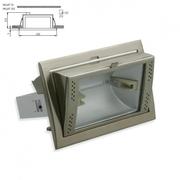 Downlight aluminium encastré inclinable pour iodure Rx7S 150W chrome mat