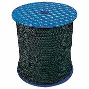 Drisse nylon standard 4 mm noire boboine de 100m (+/-5% en longueur)