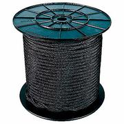 Drisse Préétirée noire polyuester 2mm bobine de 100m