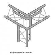 Structure Triangle alu duratruss DT23-C31-ULDR angle 3 départs pied droit pointe en haut