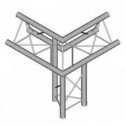 Structure Triangle alu duratruss DT23-C32-ULDL angle 3 départs pied gauche pointe en haut