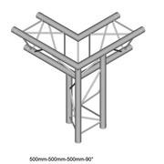 Structure Triangle alu duratruss DT23-C34-LD angle 3 départs pied droit pointe en bas