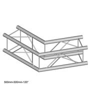 Angle à 120° structure carrée Duratruss DT 24-C22-L120  avec kit de jonction