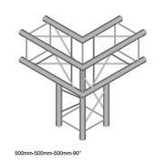 Sutucture angle 3 départ Duratruss DT24-C30-90