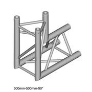 structure Triangle alu duratruss DT-33 angle 2 départ de 90° avec manchons