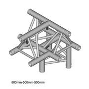structure Triangle alu duratruss 290mm DT-33 angle 3 départs de 90° en T avec manchons