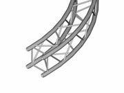 Structure alu carrée Duratruss Partie de cercle arrondi 8m 45°