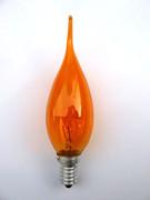 Lampe E14 Flamme coup de vent orange 230V 15W