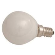 Lampe E14 230V 25W sphérique dépolie