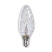 Lampe E14 230V 60W flamme claire code 005828