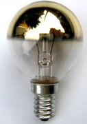 Lampe E14 calotte dorée 230V 40W