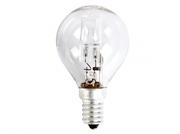 Lampe E14 230V 18W sphérique claire G45 halogène équivalent 25W