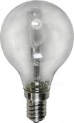 Ampoule E14 230V 42W sphérique claire éco halogène équivalent 60W SYLVANIA code 0023776