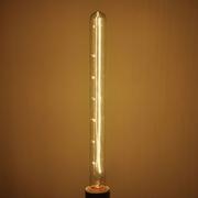 Ampoule E27 230V 40W Tube 28x300mm dorée filament carbone