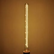 Ampoule E27 230V 60W Tube 28x300mm dorée filament carbone