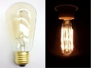 Ampoule E27 230V 60W dorée filament carbone