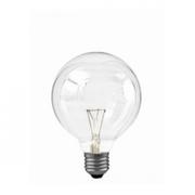 Ampoule globe clair 95mm E27 60W 230V