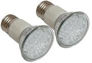 2 Lampes E27 à led Blanches 1 W 230V