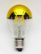 Ampoule LED E27 à filament 4W calotte doré